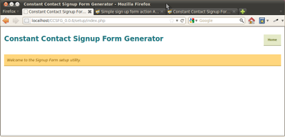 Simple sign up form action API url and structure? - Constant Contact