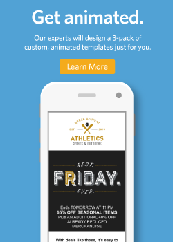 Our experts will design a 3-pack of custom, animated templates just for you.