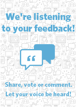 We want to hear your voice! Share your feedback, ideas, and suggestions.