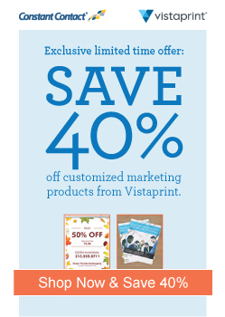 Special Vistprint offer, check it out today!