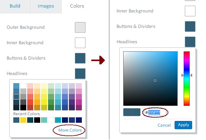 Constant Contact Colors