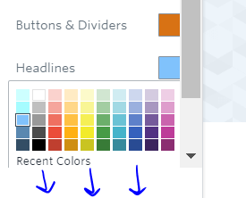 Can't get to recent colors down there!