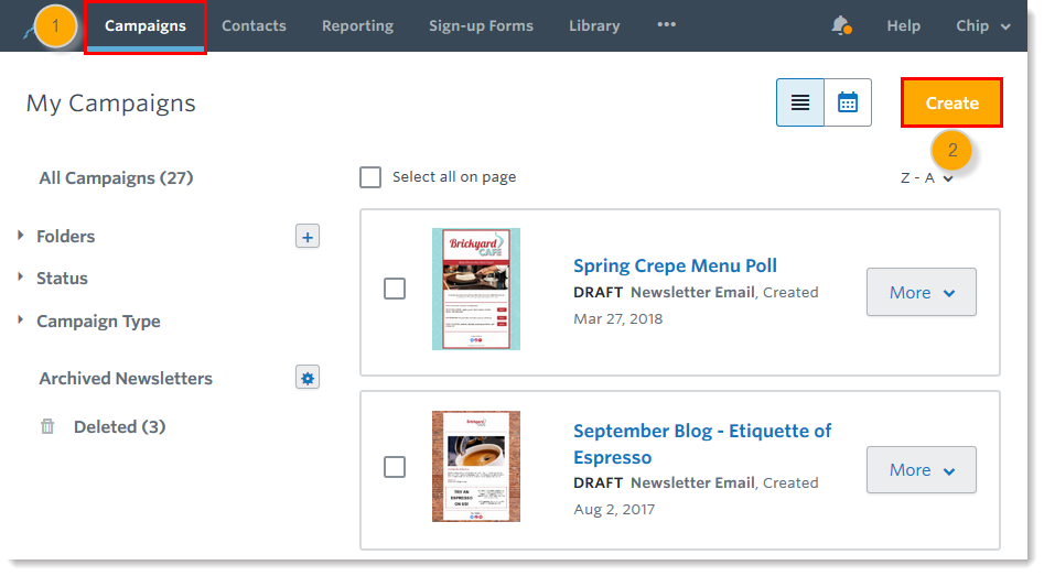 campaigns-tab-collapsed-folders-draft-emails-and-create-button-step12.png
