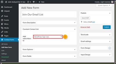 wordpress-contact-form-add-new-form-constant-contact-list-drop-down-menu-step4
