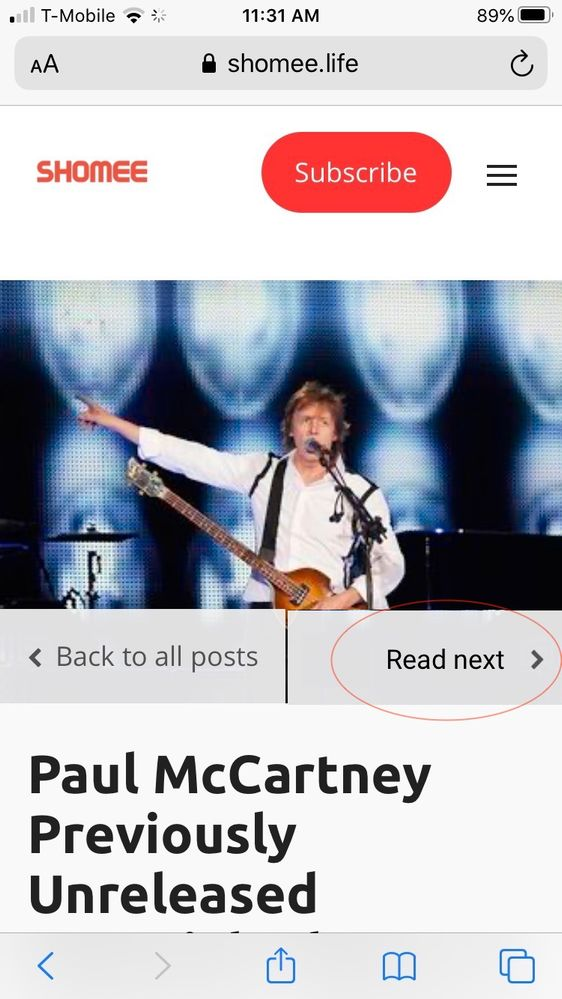 Paul McCartney Previously Unreleased Material, Photos, & Much More To Be Released July 31 - news/post - Shomee.png.jpeg