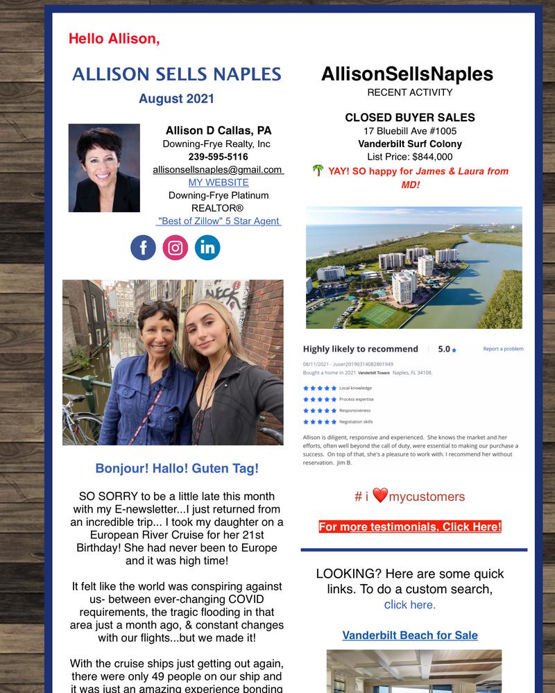 My August E-newsletter