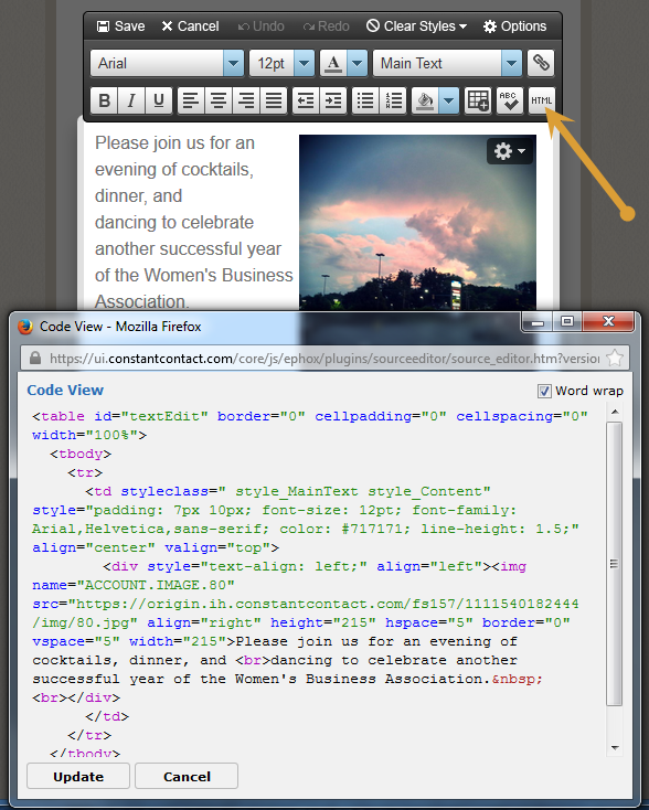 HTML button and Code text view.png