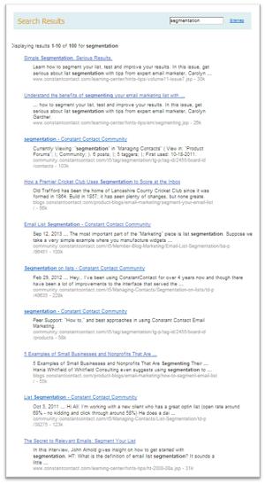 segmentation search results