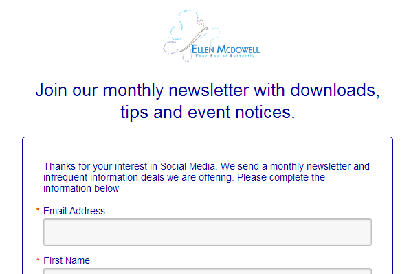 Sign Up for Emails Ellen McDowell Your Social Butterfly.png
