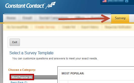 Most Popular Survey Templates Constant Contact Community - Constant contact templates
