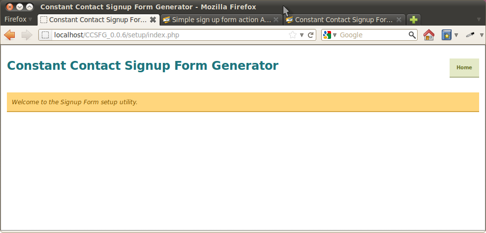 simple sign up form action api url and structure constant contact