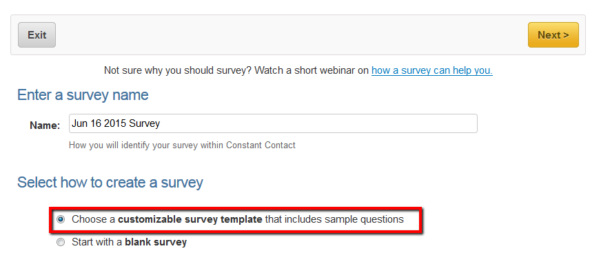 Survey Template: Shopping & Purchasing Experience - Constant Contact ...