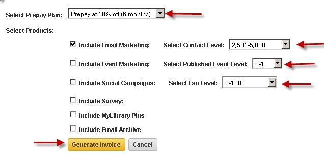 How To Generate A Prepay Invoice Constant Contact Community - How to generate invoice