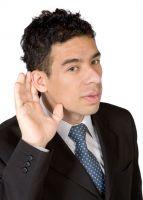 Man Gesturing Can't Hear
