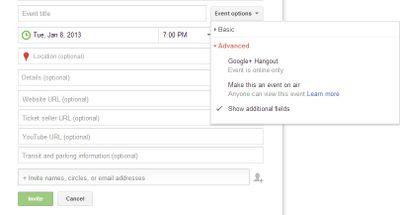 Google Plus Event Hangout
